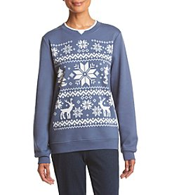 Breckenridge® Fair Isle Winter Embellished Fleece