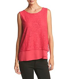Calvin Klein Layered Lace Top