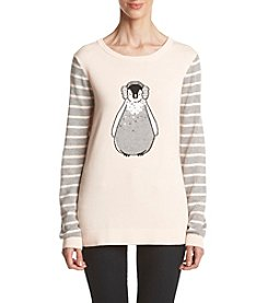 Le Tigre Crew Neck High Low Penguin Sweater