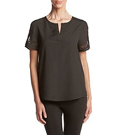 Ivanka Trump® Lace Sleeve Top