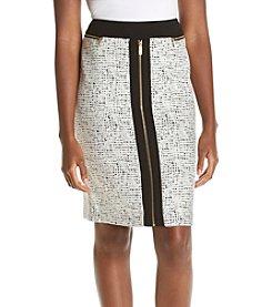 Calvin Klein ® Jacquard Zipper Skirt
