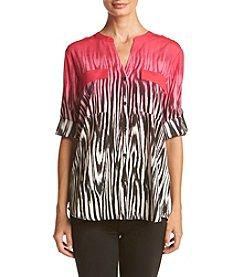 Calvin Klein ® Ombre Zebra Blouse