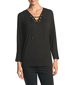 Calvin Klein ® Lace Up Dolman Knit Top