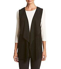 Calvin Klein Faux Suede Drape Front Vest