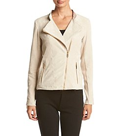 Calvin Klein Suede Moto Jacket