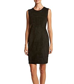 Calvin Klein ® Faux Suede Front Dress