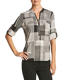Calvin Klein ® Digital Plaid Tunic Top