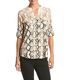 Calvin Klein Animal Printed Blouse