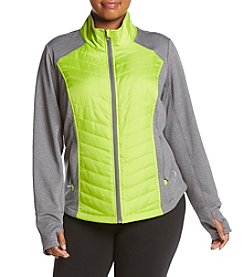 Exertek® Plus Size Quilted Chevron Jacket