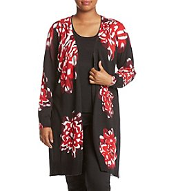 Relativity ® Plus Size Floral Print Duster