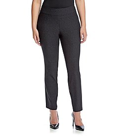 Relativity® Plus Size Skinny Pull On Pants