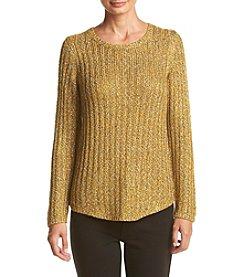 Jones New York® Fleck Tape Shirtail Sweater