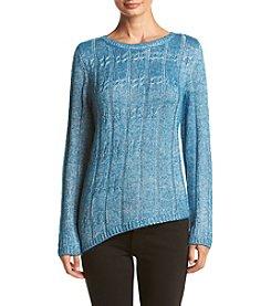 Jones New York® Asymmetric Cable Sweater