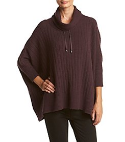Jones New York ® Scrunched Drawstring Neck Poncho
