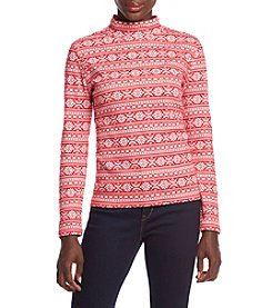 Studio Works ® Petites' Mock Neck Top