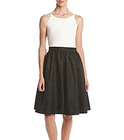Calvin Klein Halter Top Taffeta Skirt Dress