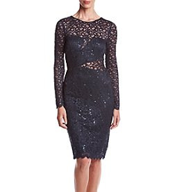 Betsy & Adam® Lace Cutout Dress
