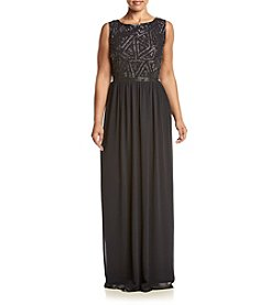 Adrianna Papell® Plus Size Beaded Bodice Gown