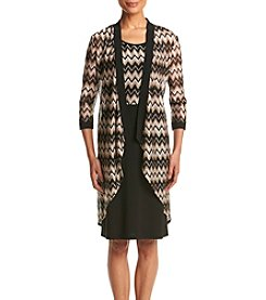 R&M Richards® Chevron Print Jacket Dress