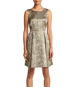 AGB® Snakeskin Fit And Flare Dress