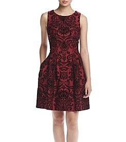Gabby Skye® Scuba Fit And Flare Dress