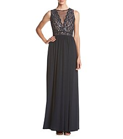 NW Collections Glitter Lace Long Dress