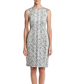 Calvin Klein Snakeskin Sheath Dress