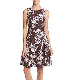 Ivanka Trump® Floral Print Scuba Crepe Dress