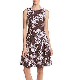 Ivanka Trump® Floral Print Scuba Crepe Dress
