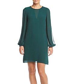 Vince Camuto® Long Split Sleeve Shift Dress