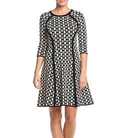 Taylor Dresses ® Fit And Flare Sweater Dress