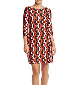 Taylor Dresses® Printed Ponte Shift Dress