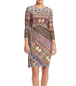 Chetta B. Printed Sheath Dress