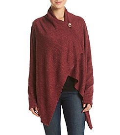 Bobeau® Solid Brushed One Button Cardigan