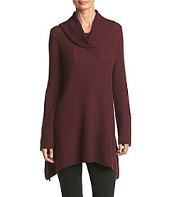 Eight Eight Eight ® Herringbone Cowl Neck Sweater