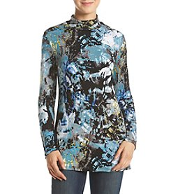 Cupio ® Abstract Print Mockneck Tunic