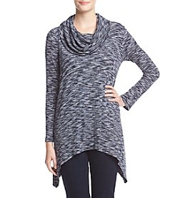 Cupio ® Marled Cowl Neck Top