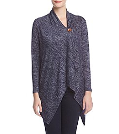 Bobeau® Marled One Button Cardigan