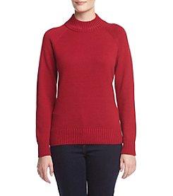 Jeanne Pierre® Jersey Mockneck Sweater