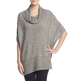 Eight Eight Eight Herringbone Cowl Neck Poncho