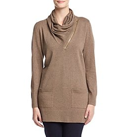 Eight Eight Eight ® Zip Neck Tunic Sweater