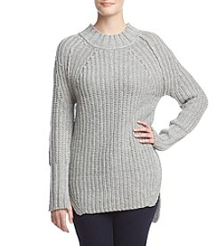 Ruff Hewn Mix Rib High Low Sweater