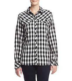 G.H. Bass & Co. Plaid Flannel Top