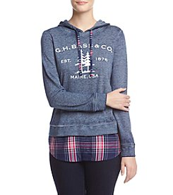 G.H. Bass & Co. Plaid Trim Sweatshirt