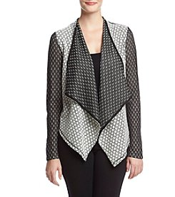 philosophy® Printed Drape Front Jacket