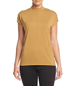 Philosophy by Republic Clothing Cap Sleeve Mock Neck Top