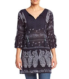 Philosophy by Republic Clothing Printed Bell Sleeve Tunic