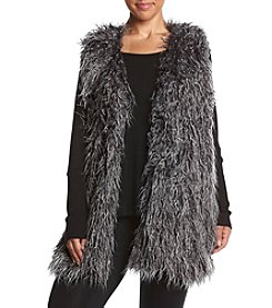 Jones New York® Plus Size Faux Fur Sweater Vest