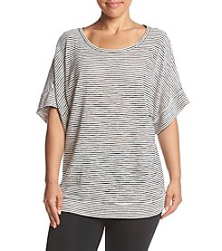 Jones New York® Plus Size Shadow Stripe Top