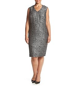 Kasper® Plus Size Jacquard Sheath Dress